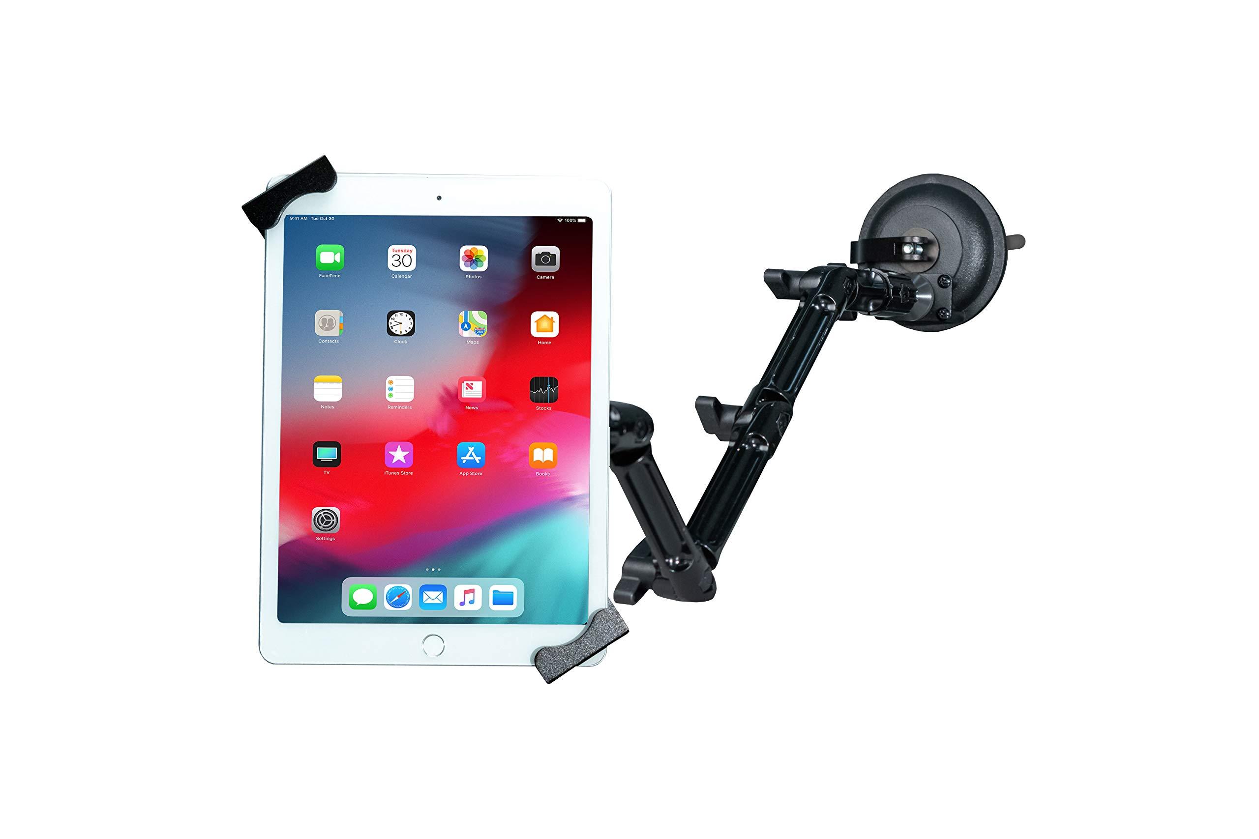 "Tablet Mount, CTA Digital Custom Flex Security Suction Mount for 7-14"" Tablets/iPad 10.2-Inch (7th Gen.), iPad Air 3, iPad Mini 5, 12.9-Inch iPad Pro, 11-Inch iPad Pro, iPad Gen 6 & More"