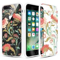Caka iPhone 7 Plus Case, iPhone 8 Plus Clear Floral Case Flower Pattern Slim Girly Cute Anti Scratch Excellent Grip Clarity TPU Case for iPhone 6 Plus/6s Plus/7 Plus/8 Plus 5.5 inch (Sunflower Vine