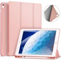 """Ztotop Case for iPad Air 10.5"""" (3rd Gen) 2019/iPad Pro 10.5"""" 2017 with Pencil Holder, Ultra Slim Soft TPU Back and Trifold Stand Cover with Auto Sleep/Wake Full Body Protective Smart Case, Rose Gold"""