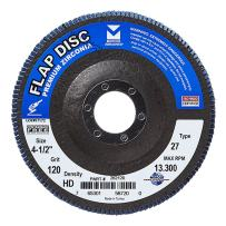 "Mercer Industries 262120 Zirconia Flap Disc, High Density Type 27, 4-1/2""x 7/8"" Grit 120, 10 Pack"