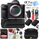 Sony a7S II 12.2MP Full-Frame Mirrorless Interchangeable Lens Camera Body + 64GB Battery Grip Dual Battery Pro Video Bundle