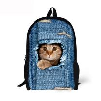 Cozeyat Cute Cat Print School Backpack Lightweight School Bag Fashionable Bookbag for Kids