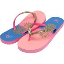 Ataiwee Girls Slide Sandals - Kids Flip Flops Slippers Summer Beach Shower Bath Pool Water Shoes for Big Kid.