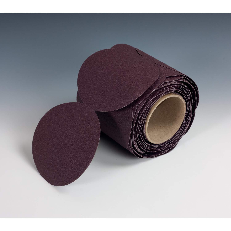 3M Stikit Cloth Disc Roll 202DZ, 80 J-weight, 5 in x NH, Die 500X, 100 discs per roll