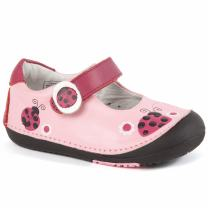 Momo Baby Girls First Walker Toddler Ladybugs Mary Jane Leather Shoes