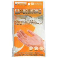 AMMEX Vinyl Disposable Gloves - 10/pack, Powder Free, 4 mil, Uni-size, Clear, Case of 250