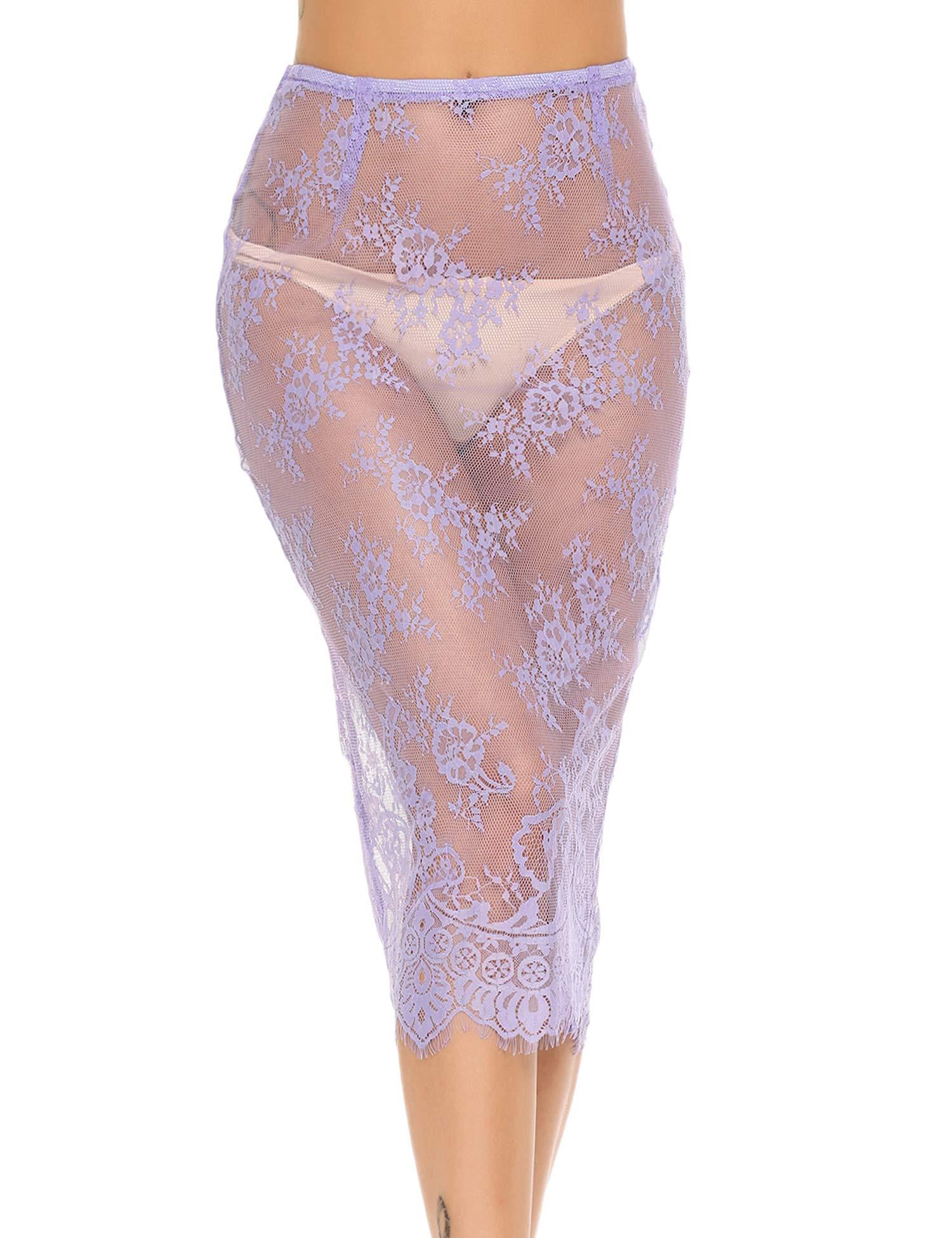Avidlove Women Lingerie Half Slips Lace Skirt Extender Underskirt Long