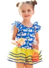 DQdq Little Girls One Piece Swimsuits