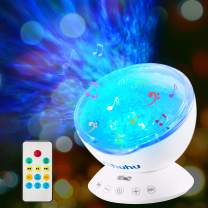 Ocean Wave Projector, Ohuhu Night Light Projector, 12 LED 7 Colors Changing, Night Light for Kids, Undersea Projector Lamp for Christmas Gifts Kids Bedroom Living Room Decoration