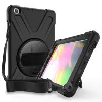 ProCase Galaxy Tab A 8.0 2019 Case T290 T295, Rugged Heavy Duty Shockproof Rotating Kickstand Protective Cover for Galaxy Tab A 8.0 Inch 2019 Without S Pen Model SM-T290 (Wi-Fi) SM-T295 (LTE) -Black