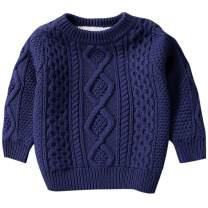 BINPAW Kid's Vintage Twist Warm Fleece Lined Sweater, 12 Months-10 Years