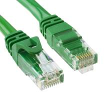 Cmple - High Speed Cat 6 Cable - 10 Gbps Network Cable, Cat6 Ethernet LAN, Gold Plated RJ45 Connectors – 100 Feet Green