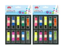 4A Pop-Up Flags in Dispensers Set, Neon Color Page Marker Index Label, Transparent Tabs Flags Stickers, Writable Labels Bookmarks, 1/2 x 1 3/4 Inches, 700 Flags Total, 4A 60121-10x2