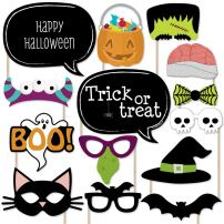Big Dot of Happiness Trick or Treat - Halloween Party Photo Booth Props Kit - 20 Count