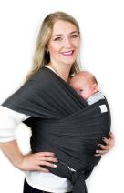 Cutie Carry Baby Wrap Carrier Sling for Newborn and Infant Hands Free All in One Shower Gift Dark Grey Heather