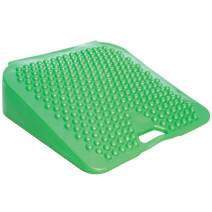 """Fun and Function Lean-N-Learn Wedge Cushion Seat Green Small - Improves Sitting Posture & Attention for Kids and Adults Stimulates Sensory Awareness, One Side Smooth Other Side with Bumps 10""""L x 10""""W"""