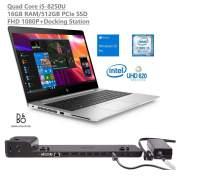 "HP Elitebook 840 G5 14"" Full HD FHD (1920x1080) Business Laptop (Intel Quad-Core i5-8250U, 32GB DDR4 RAM, 1TB PCIe NVMe SSD) +Docking Station, Backlit, Fingerprint, Thunderbolt, Windows 10 Pro"