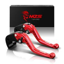 MZS Short Brake Clutch Levers for Honda CB400 2014/CB599 CB600 HORNET 1998-2006/CB919 2002-2007/CBR 600 F2 F3 F4 F4i 1991-2007/CBR900RR 1993-1999/NC700 S X 2012-2013/TVR250/VTX1300 2003-2008 Red
