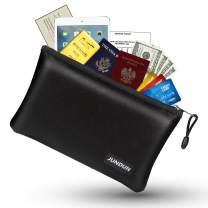 "JUNDUN Fireproof Money Bag, 10.6""x6.7"" Fireproof and Waterproof Cash Bag with Zipper Closure,Fireproof Safe Storage Pouch Envelope for A5 File Folder,Document, Bank Deposit,Passport,Jewelry"