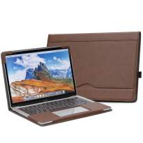 "TYTX MacBook Pro Leather Case 13 Inch 2016-2020 (A1989 A1706 A1708 A2159 A2289 A2251) Laptop Sleeve Protective Folio Book Cover (New MacBook Pro 13"", Dark Brown)"