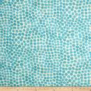 Genevieve Gorder Outdoor Puff Dotty Turquoise, Fabric by the Yard