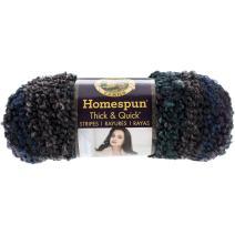 Lion Brand Yarn 792-222 Homespun Thick and Quick Yarn, Tartan Stripes
