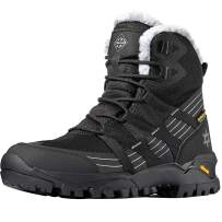 Wantdo Women's Waterproof Hiking Boots Lightweight Snow Boots for Winter Snow Hiking Mountaining