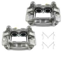 Set of 2 Front Driver and Passenger Side Brake Caliper Assembly Replacement for Toyota Tundra 2000-2003 Sequoia 2001-2002