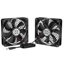 ELUTENG 120mm Fan 2 in 1 Dual USB Fan Silent Computer Cooling Ventilator 12cm DC 5V for Laptop/Playstaion/Xbox One/Mini PC/Router/DVR Radiator Fan