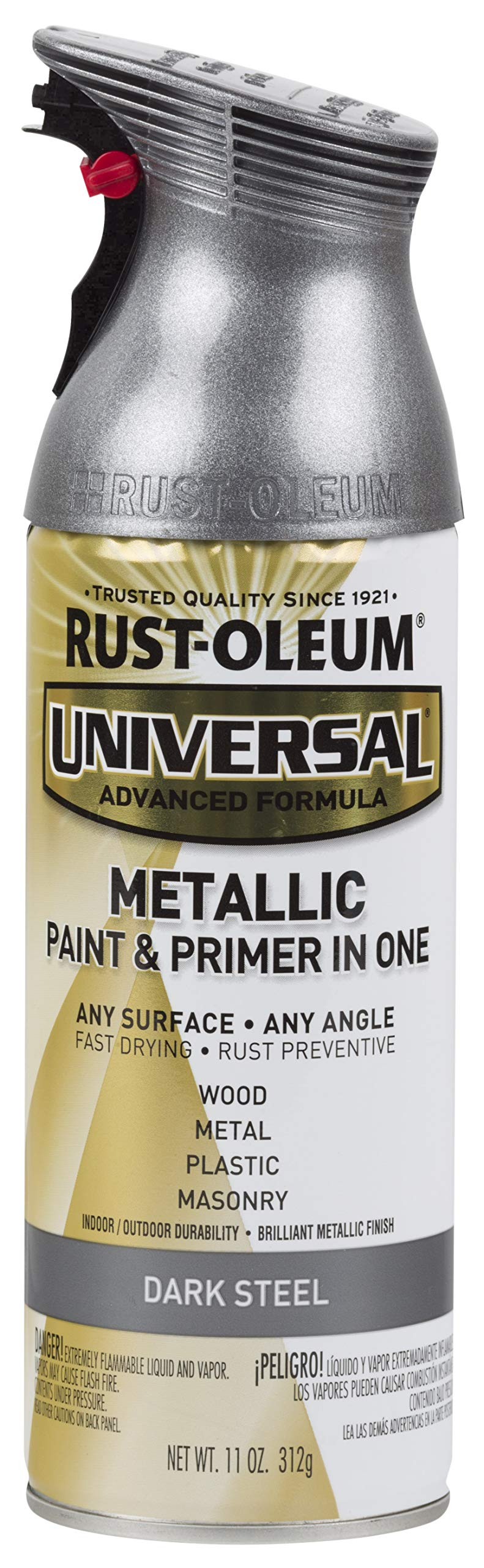 Rust-Oleum, Metallic Dark Steel 262662 Universal All Surface Spray Paint, 11 oz