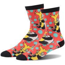 Casual Crew Sock, J'colour Novelty Animal Print Luxury Bamboo Dress Sock Gift