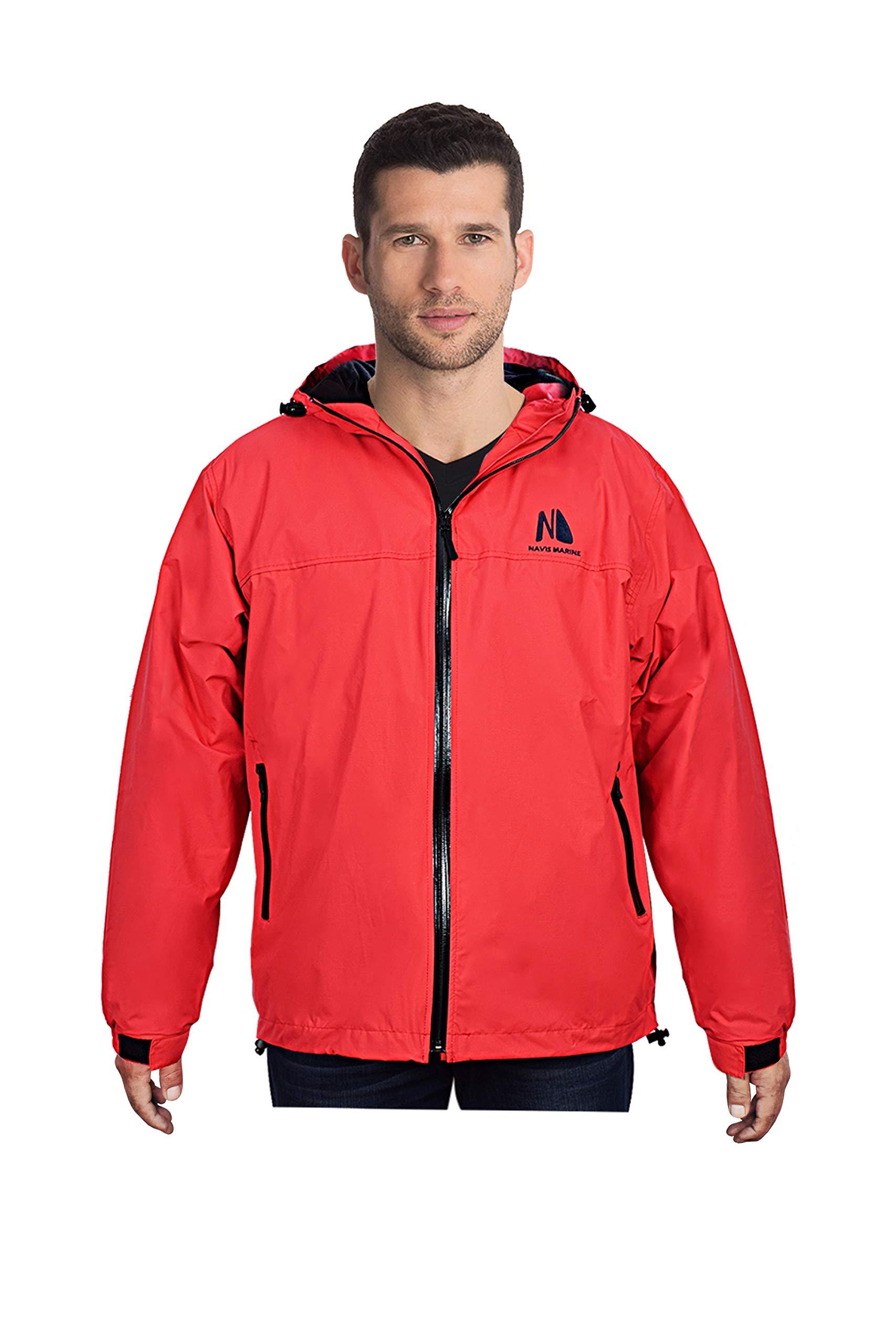 Waterproof Insulated Jacket for Men Women Sailing Fishing Rain Coat Crew Midlayer Fleece Lined Breathable Windproof