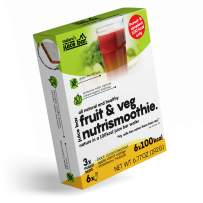 Nature's Fruit & Veg Nutrismoothie Juice Bar   Organic Breakfast Bars   100 kcal Soft Fruits in Wafer   Whole as Fruit & Convenient as Bar   Excellent Source of Potassium, Calcium & Iron 6-pack