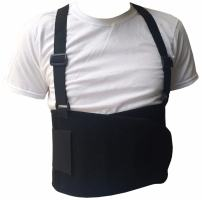Black Belt Back Support Waist Brace Lift Heavy Weight Comfort (Large/X-Large)