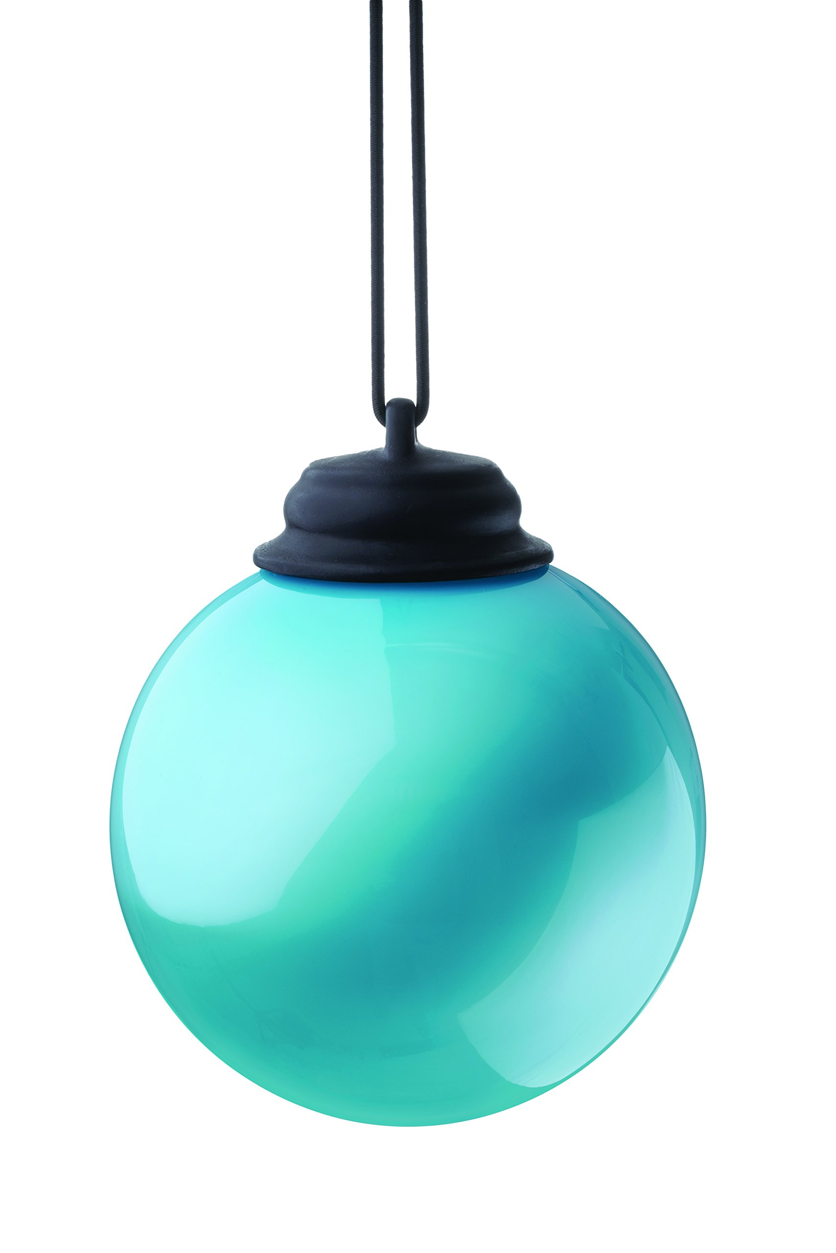 """Xodus Innovations WP415 Battery Powered Hanging Decorative Outdoor LED Pulsing Globe, 5"""", Light Blue"""