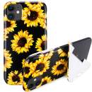 "iPhone 11 Kickstand Case, Stylish Sunflower iPhone Case for iPhone 11 6.1"" Foldable Durable Flexible Soft Ultra-Thin Shockproof Slip Resistant TPU Case Cover for Girls Men"