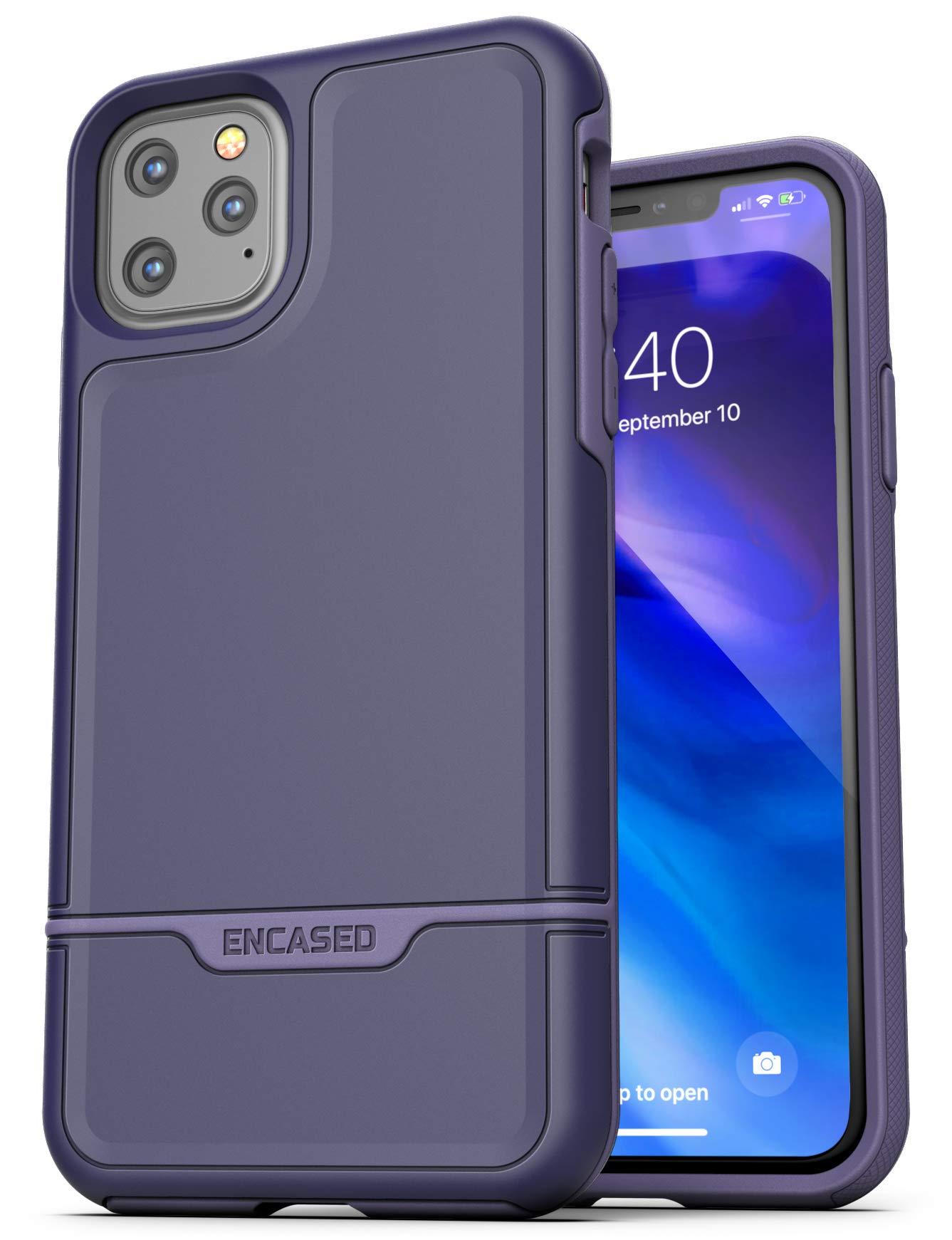 Encased Protective iPhone 11 Pro Case Purple (2019 Rebel Armor) Military Grade Heavy Duty Full Body Cover