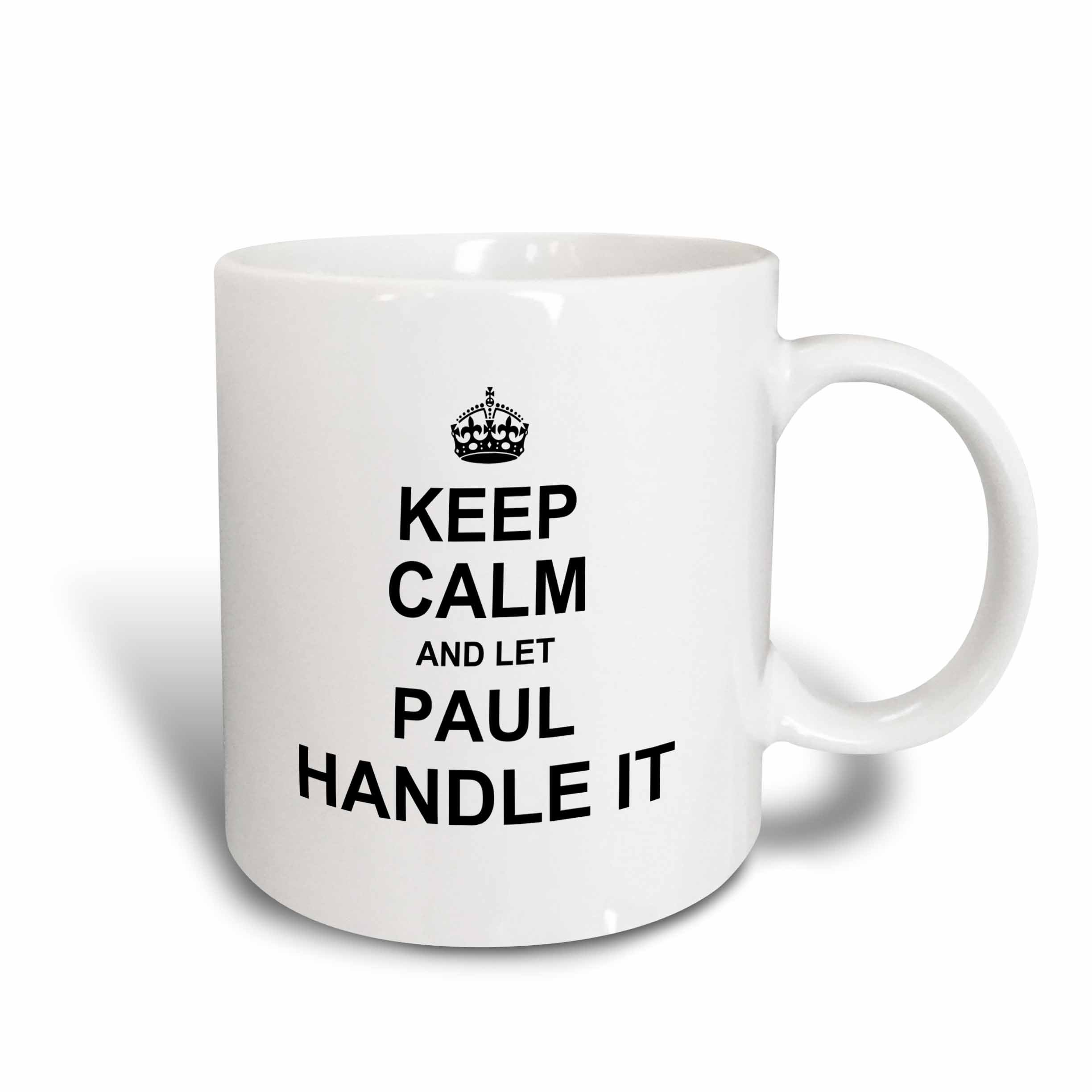 3dRose Keep Calm And Let Anna Handle It - Funny Personal Me Mug, 15 oz, White