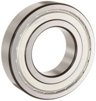 SKF 6201 2ZJEM Light Series Deep Groove Ball Bearing, Deep Groove Design, ABEC 1 Precision, Double Shielded, Non-Contact, Steel Cage, C3 Clearance, 12mm Bore, 32mm OD, 10mm Width, 697.0 pounds Static Load Capacity, 1550.00 pounds Dynamic Load Capacity