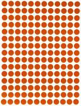 "Royal Green Dot Sticker ¼"" inch 8mm (5/16) Color Coding Labels in Orange - 2700 Pack"