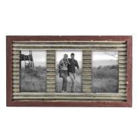 Foreside Home & Garden FFRD06166 4X6 Triple Vista Photo Frame Red