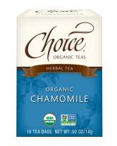 Choice Organic Teas - Chamomile Tea (6 Pack) - Organic Herbal Tea - 96 Tea Bags