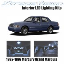 Xtremevision Interior LED for Mercury Grand Marquis 1992-1997 (8 Pieces) Cool White Interior LED Kit + Installation Tool