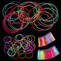 Kicko 75 Pieces Glow Sticks Assortment - Value Pack - Cool and Fun Glow in the Dark theme Party Supplies for Kids - Party Favor, Party Bag Stuffer, Novelty Toys