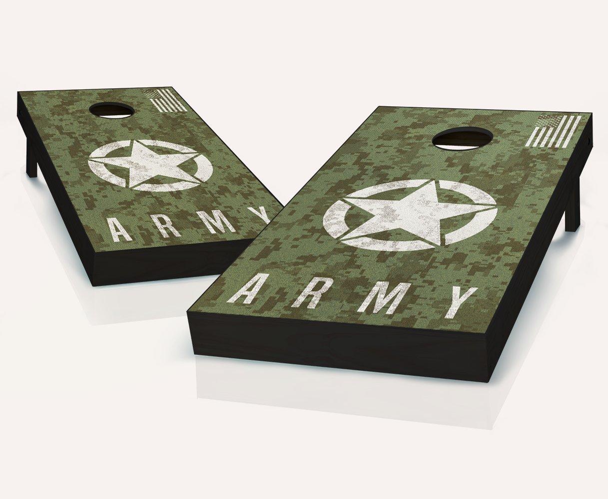 Tailgating Pros US Army Digital Camo Cornhole Boards with Set of 8 Cornhole Bags