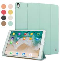 "JISON21 iPad Air 3 10.5"" (3rd Gen) 2019 Leather Case, Slim Folding Ultra Lightweight Standing Cover for iPad Pro 10.5"" 2017 with Auto Wake/Sleep Multiple Viewing Angles(Green)"