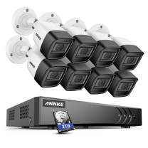 ANNKE 8CH 2K+ Super HD Audio Security Camera System Outdoor, 8CH 5MP Surveillance DVR with 8pcs IP67 CCTV Camera 100ft Smart IR Night Vision,Remote Access & Smart Motion Alerts,2TB Hard Drive- S500