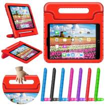"greatgo Case Compatible with iPad 9.7in Air 1 Air 2 5th 6th Generation Shockproof Childproof Lightweight Convertible Handle Stand iPad Cover Case for 6th 5th Generation 9.7"" Air Case Red"