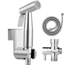 YISSVIC Bidet Sprayer for Toilet Stainless Steel Cloth Diaper Sprayer Handheld Diaper Washer Toilet Sprayer with Adjustable Spray