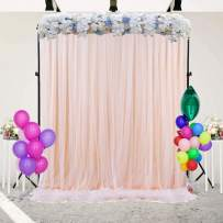 Champagne Backdrop Curtain for Paries Baby Shower Wedding Birthday Party Photography Backdrop Decorations 5 ft X 7 ft